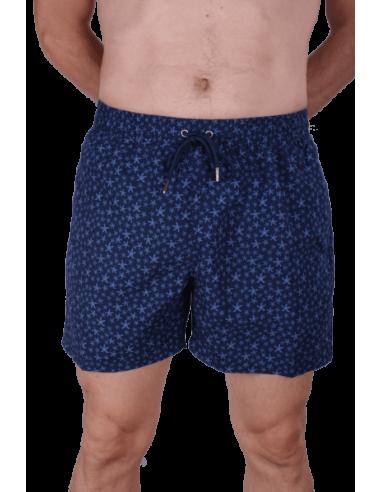 Starfish Printed Swimsuit - Navy Blue
