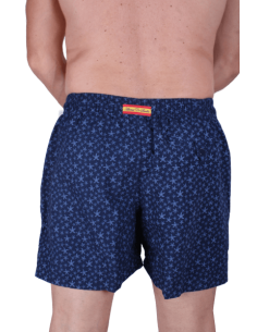 Starfish Printed Swimsuit - Navy Blue