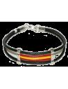 Leather Bracelet with Spanish Flag Details