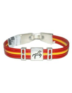 Leather Bracelet Spain With Horse
