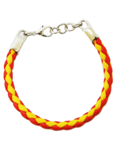 Spanish Flag Braided Bracelet