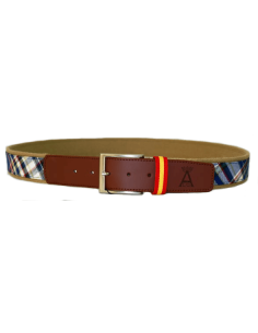 Checked Belt - Blue