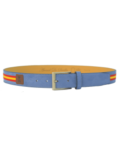 Spanish Flag Details Belt - Sky Blue