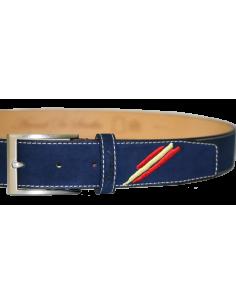 Arenal de Sevilla Children Leather Belt - Navy Blue