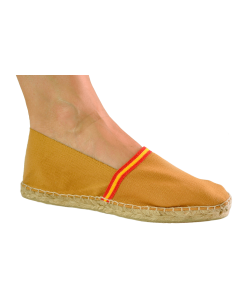 Espadrilles with Spanish Flag Detail - Mustard Yellow