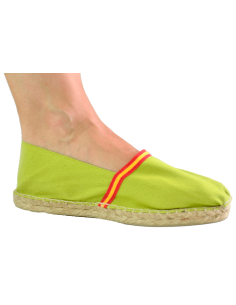 Espadrilles with Spanish Flag Details - Pistachio Green