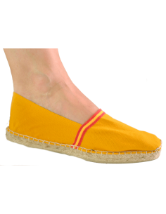 Espadrilles with Spanish Flag Details - Yellow