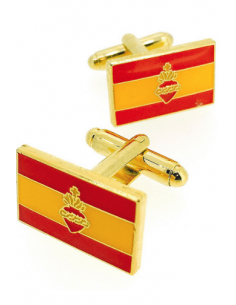 Sacred Heart Spanish Flag Cufflinks