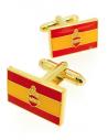 Sacred Heart Spanish Flag Cufflinks