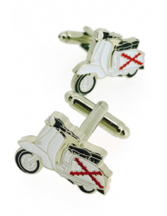 Cufflinks Vespa Lambretta Cross of Burgundy