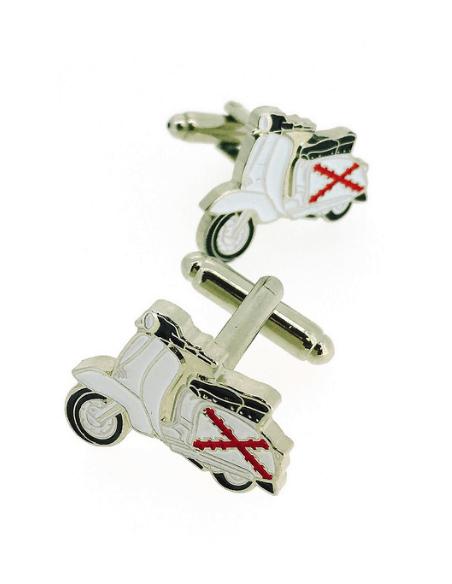 Cufflinks Vespa Lambretta Cross of Burgundy