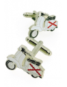 Vespa Cross of Burgundy Cufflinks