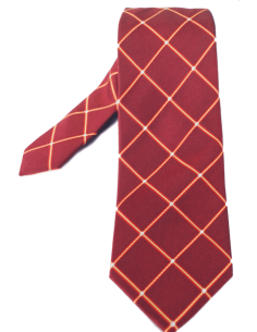 Rhombus pattern tie- red