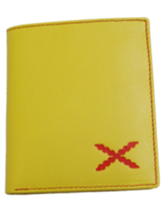 Yellow Borgoña's cross wallet- bigger cross.