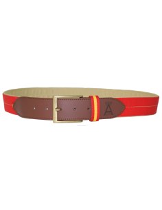 Cinturón Niño Rojo con Aplique en Piel - Rojo