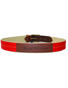 Red Belt with Leather Details