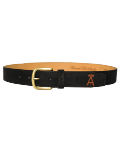 Split Leather Belt with Spanish Flag Details