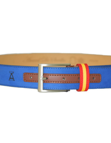 Spanish Flag Details Children Belt - Blue
