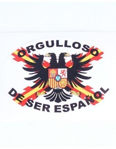 Pegatina Tercios de Flandes Ovalada con leyenda y bandera España