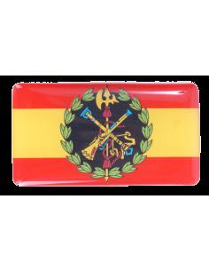 Pegatina Relieve Bandera España con Escudo de la Legión