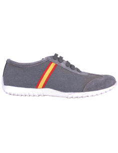 Casual Sneakers with Spanish Flag Details - Grey
