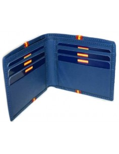 Spanish Flag Details Wallet - Royal Blue