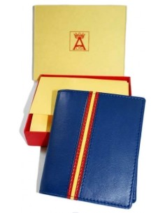 Blue Wallet with Pocket and Flag Spain