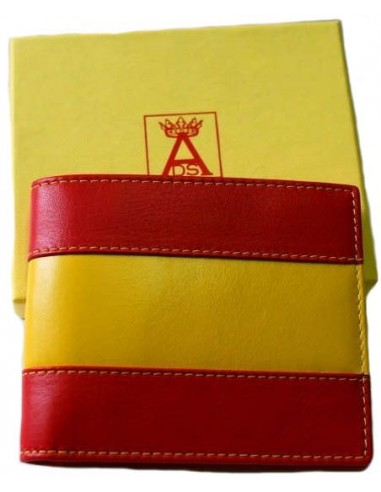 American style wallet with Spanish flag