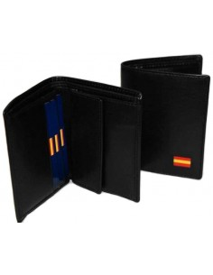 Black Wallet Flag Spain with Pocket