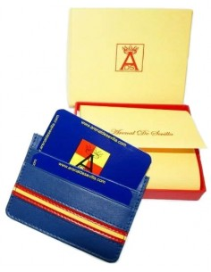 Spanish Flag Details Card Wallet - Royal Blue