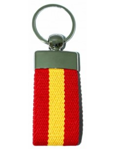 Spanish Flag Elastic Key Ring