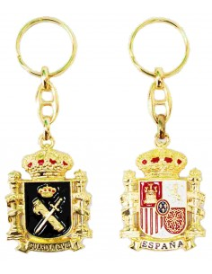 Keychain Civil Guard and Shield Spain