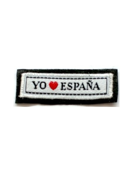 Thermo-adhesive patch with legend I love Spain