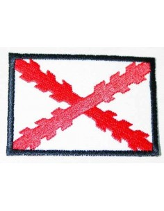 Burgundy Cross Patch