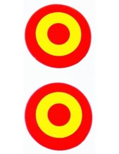 Pegatina Redonda Relieve Bandera España x2