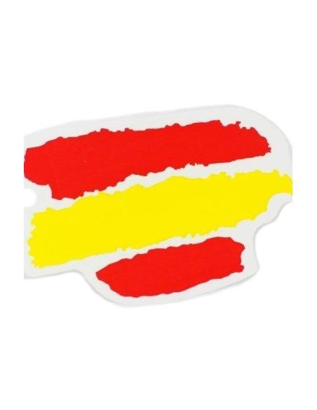 Pegatina Bandera España Manchas