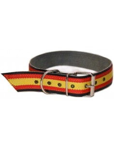 Large Dog Collar Spanish Flag
