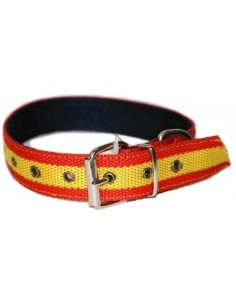 Medium Dog Collar Spanish Flag