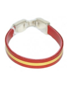 Spanish Flag Leather Bracelet