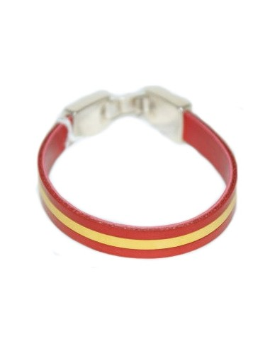 Spanish Flag Leather Bracelet
