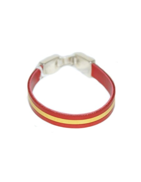 Bracelet Spanish Flag Leather