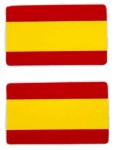 Pegatina Bandera España Plana x2