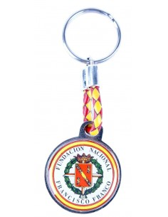 Round Keychain National Foundation of Franco