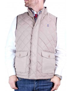 Sleeveless Parka - Beige